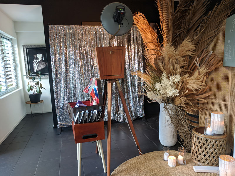 Noosa Waterfront Restruant Photo Booth Setup