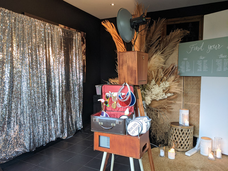 Our Photo Booth Setup at Noosa Waterfront Restaurant